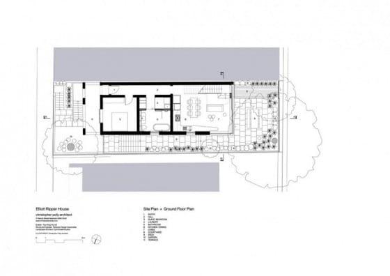 Plano del primer piso de la casa Modelo 1