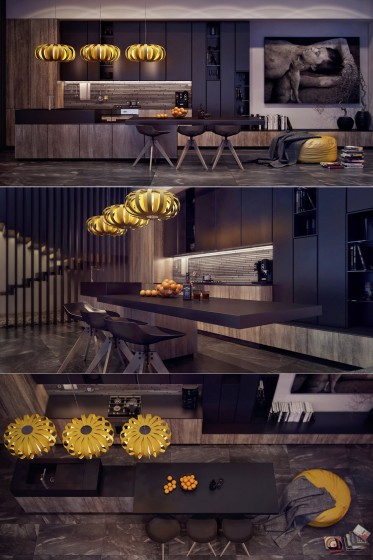 Diseño de cocina con estilo y arte