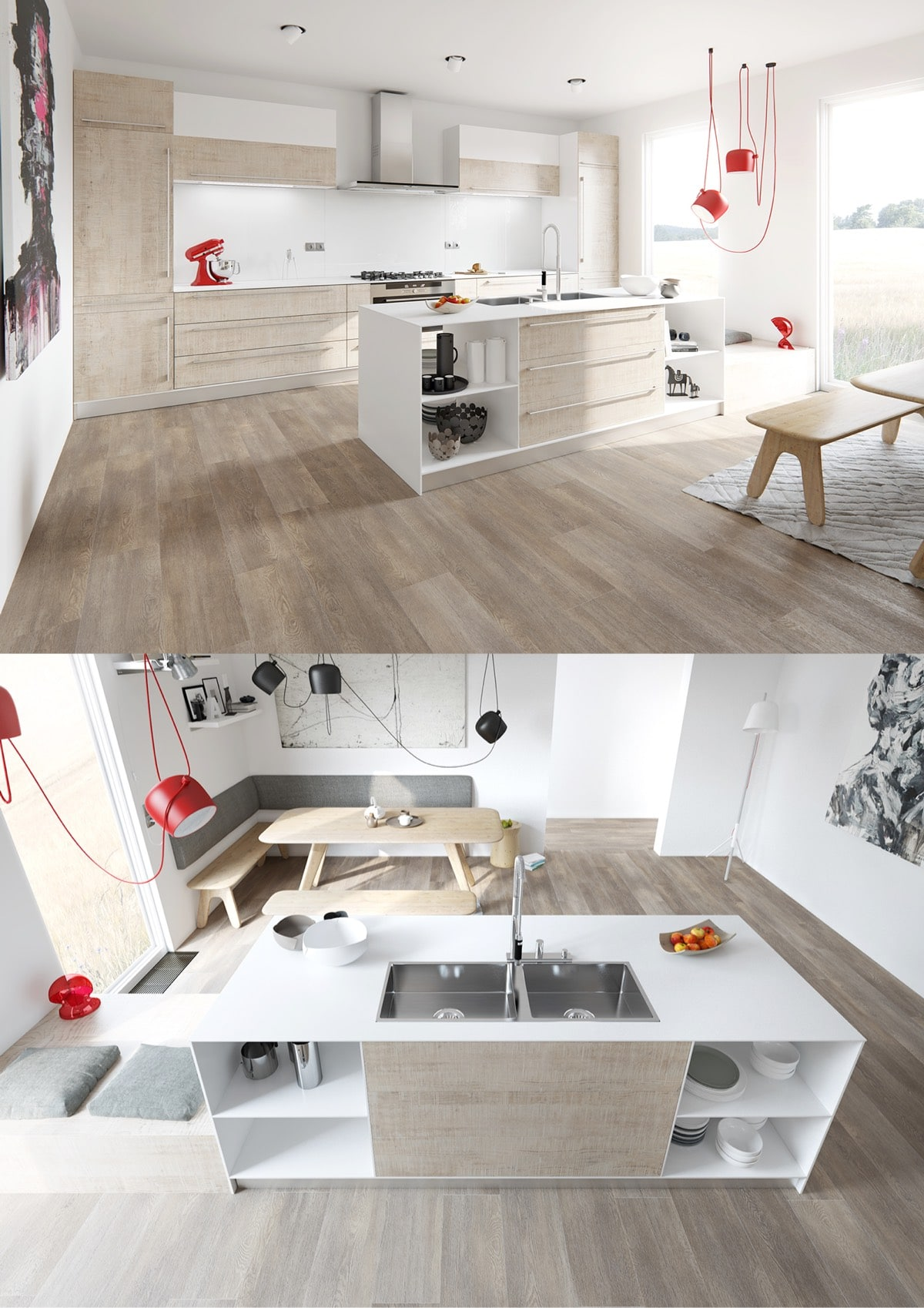 Ideas y dise o de cocinas modernas construye hogar for Disenos de cocinas modernas 2016