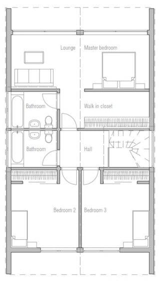 Casa de dos pisos y tres dormitorios
