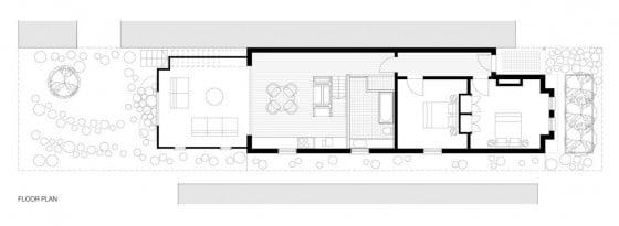 Casa de un piso terreno pequeño 92 metros cuadrados