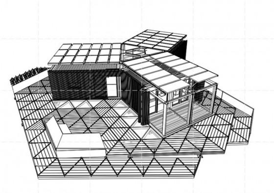 Diagrama 3D casa container