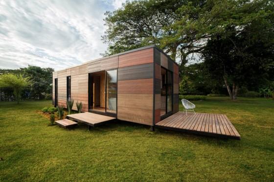 Diseño de casa pequeña de madera