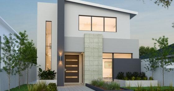 Planos de casas de dos pisos modernas for Diseno casa planta baja