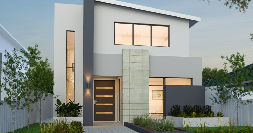 Planos de casas de dos pisos modernas Fachadas para casas de dos plantas