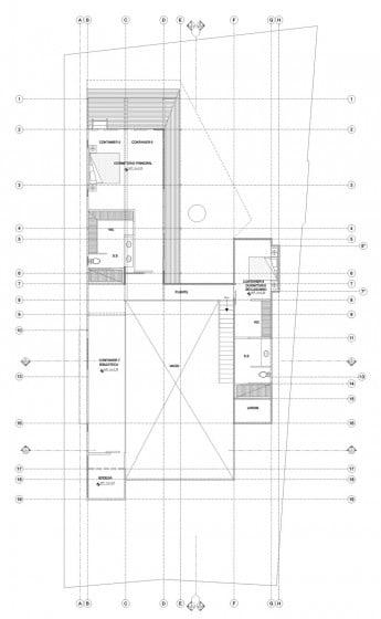 Plano de casa de dos pisos contenedores reciclados