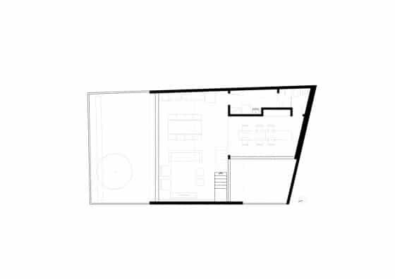 Plano del primer piso de casa pequeña