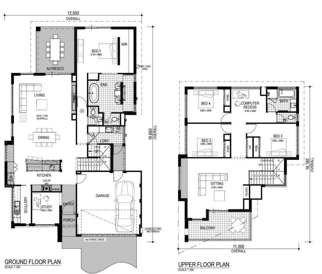 Planos de casas de dos pisos modernas construye hogar for Plano casa un piso