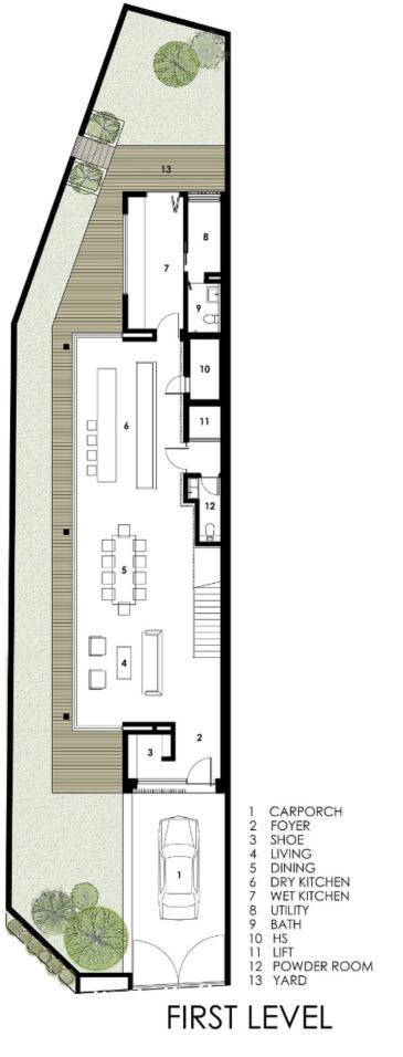 Dise o de casas angostas y largas construye hogar for Planos de casas alargadas