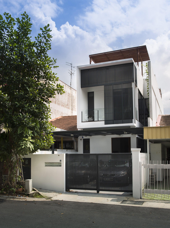 Planos peque a casa de dos pisos moderna construye hogar for Fachadas para casas pequenas de dos pisos