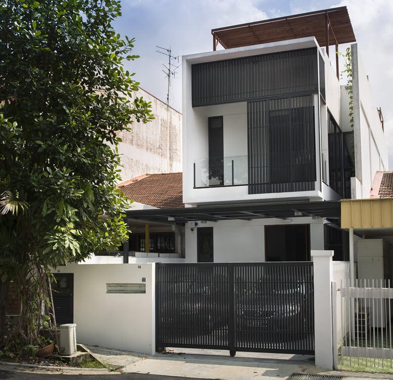 Planos peque a casa de dos pisos moderna construye hogar - Fachadas de casas modernas planta baja ...