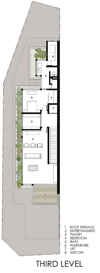 Dise o de casas angostas y largas - Orientacion de un piso ...