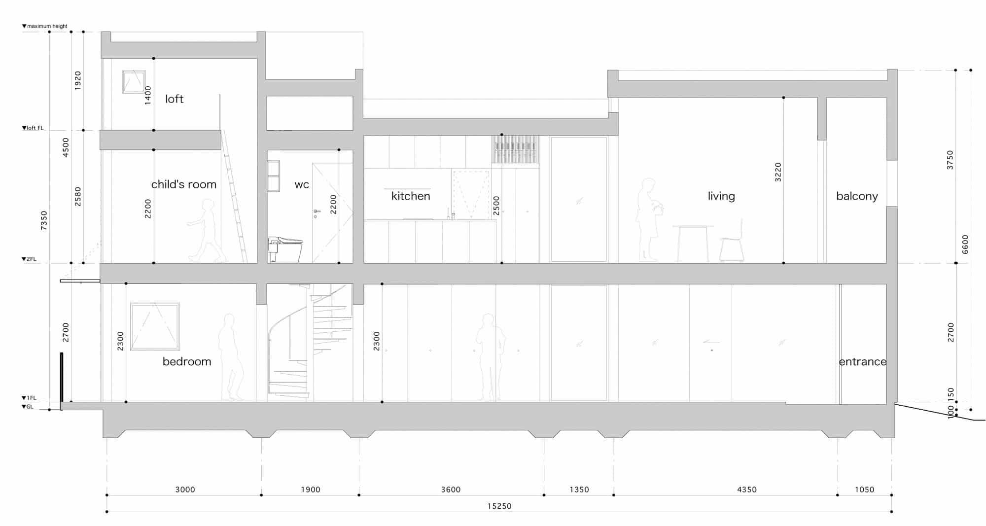diseño de casas angostas y largas | construye hogar