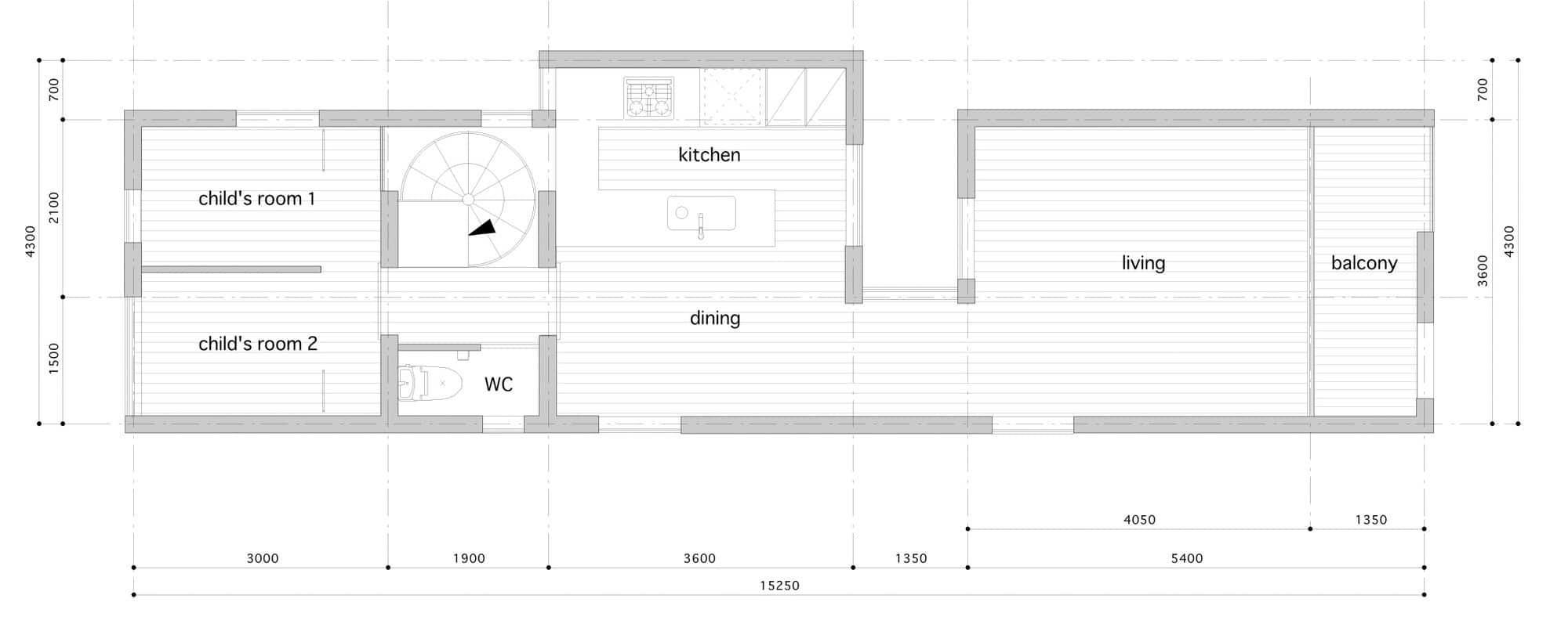 Dise o de casas angostas y largas construye hogar for Casas estrechas y alargadas