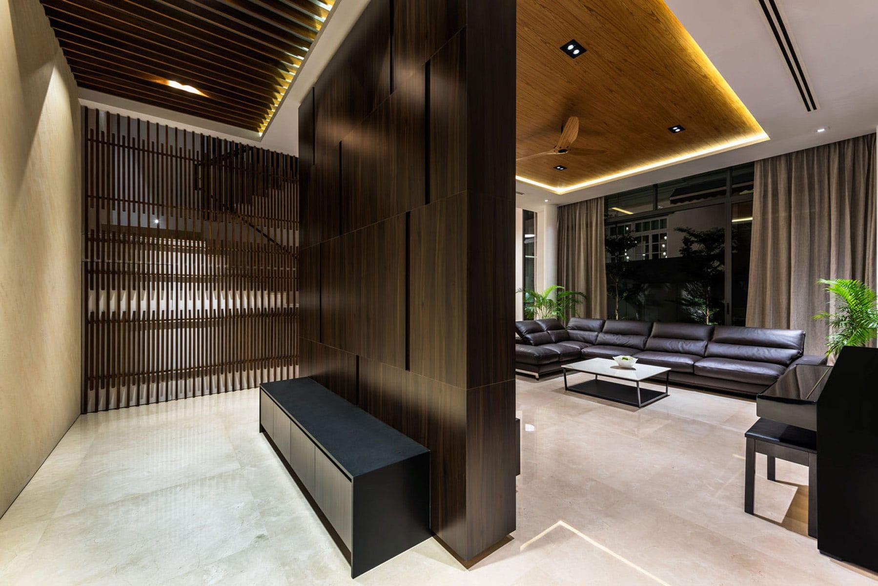 Dise o casa moderna tres pisos for Diseno interior moderno