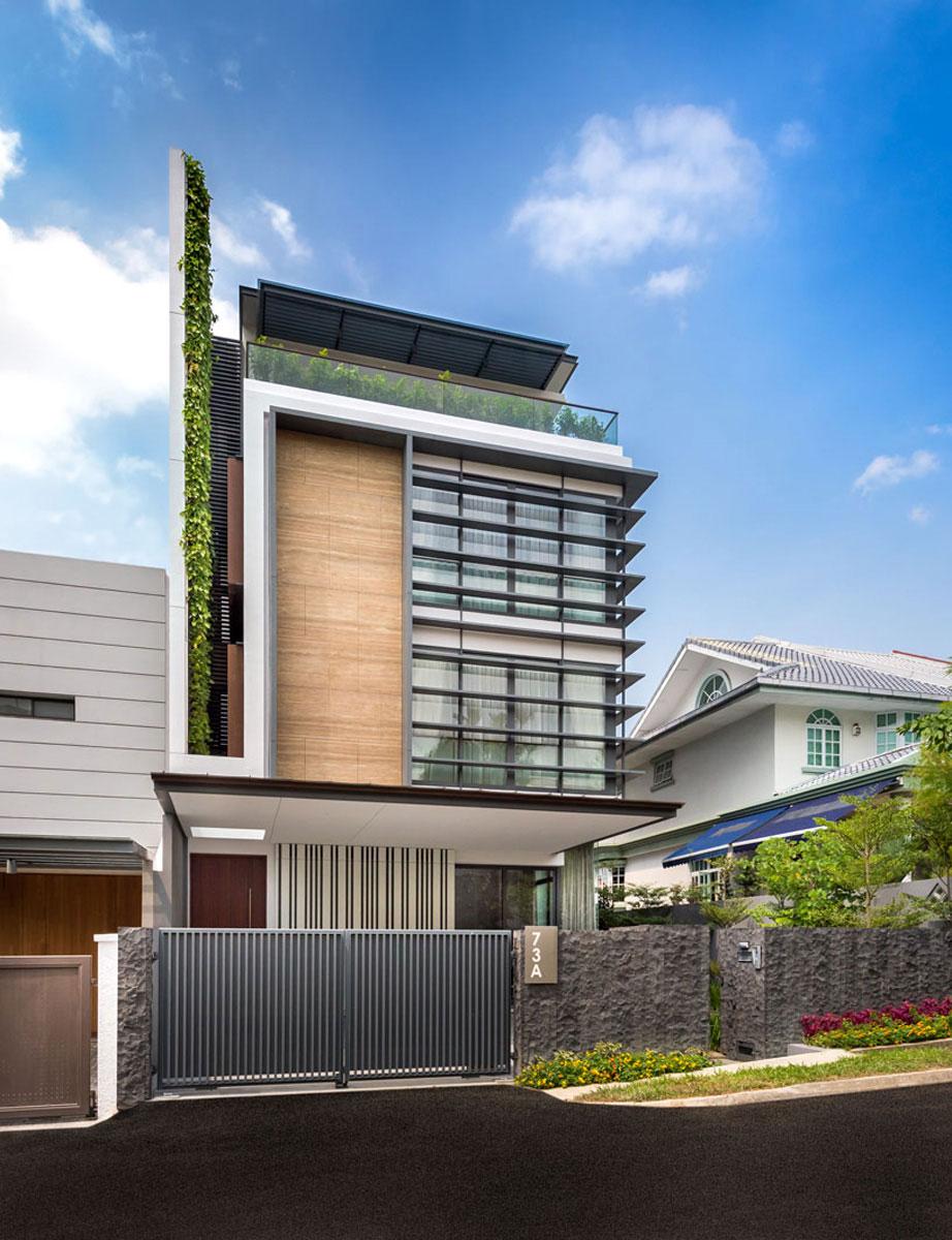 Dise o casa moderna tres pisos for Casa moderna l