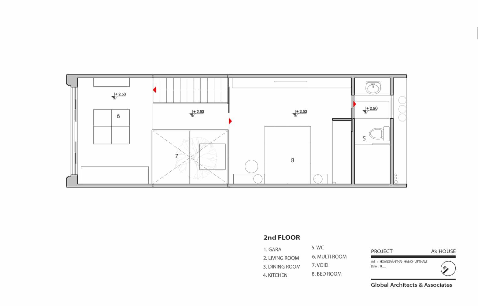 Idea casa peque a y econ mica 46 m construye hogar - Plano piso 50 metros ...