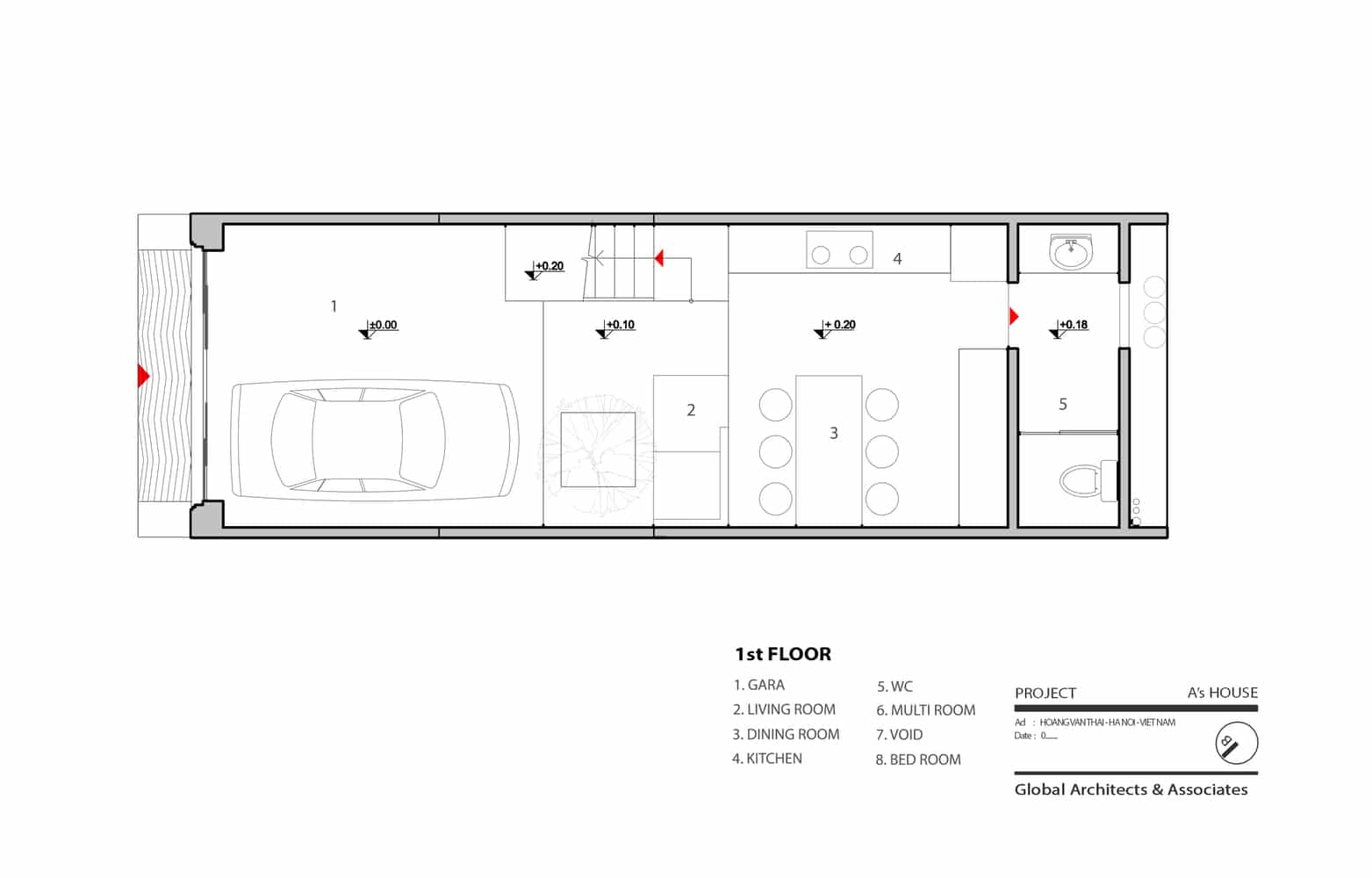 Idea casa peque a y econ mica 46 m construye hogar for Planos de casas de 24 metros cuadrados