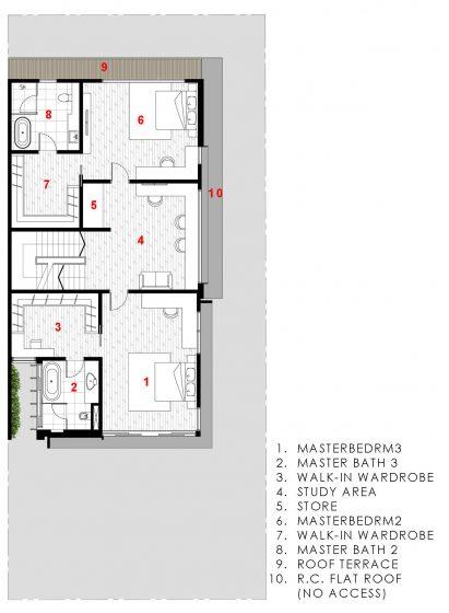 Tercer piso de casa moderna