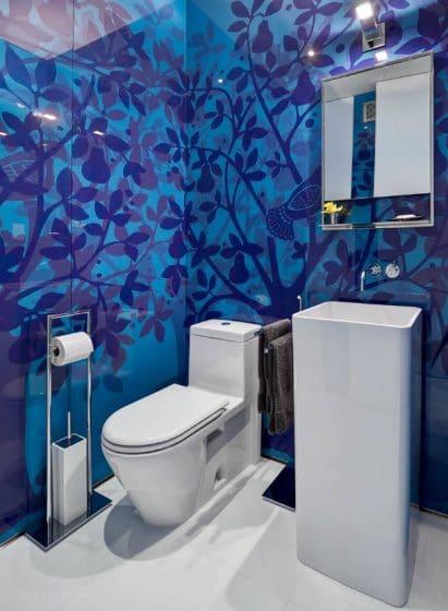Modernidad en cuarto de baño pequeño