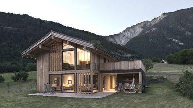 Photo of Diseño de hermosa casa de campo de madera, forma típica con elementos modernos que la convierten en única