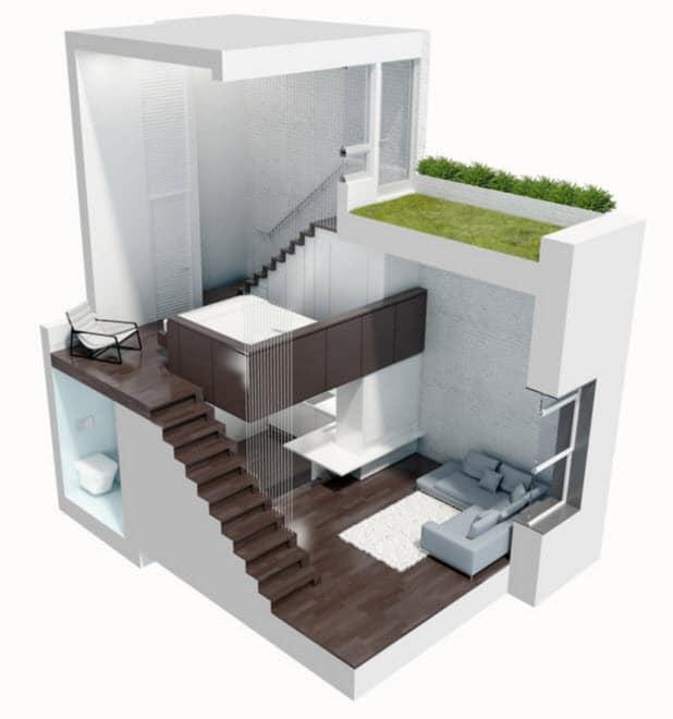 Ideas de dise o de departamentos peque os construye hogar for Ideas para un departamento pequeno