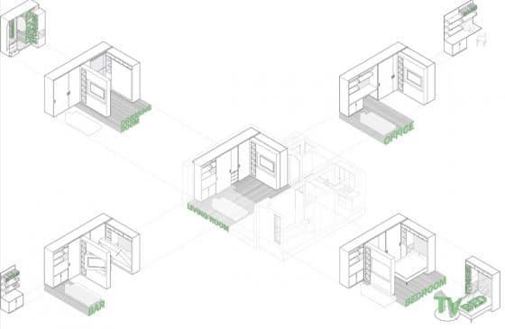 Planos módulos departamento pequeño