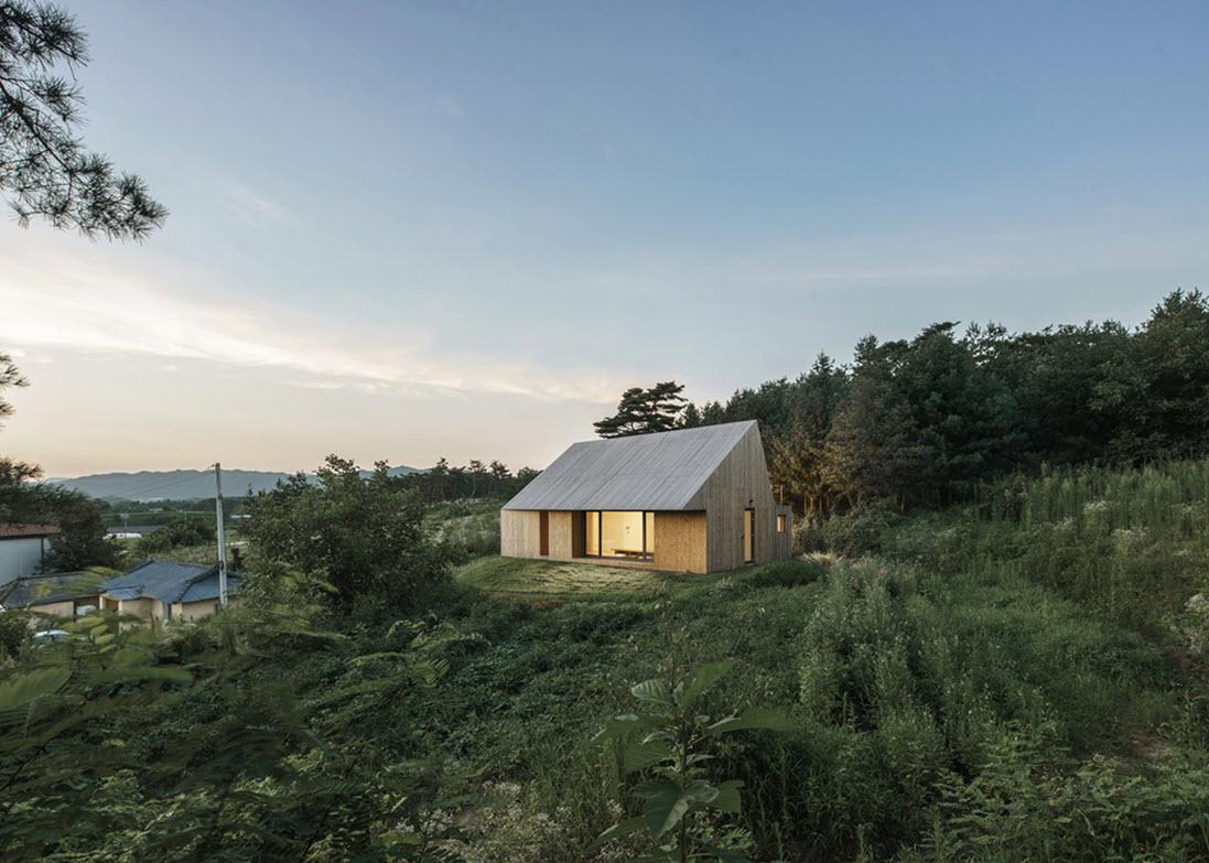 Dise o moderna casa de campo madera construye hogar - La casa de la mampara ...