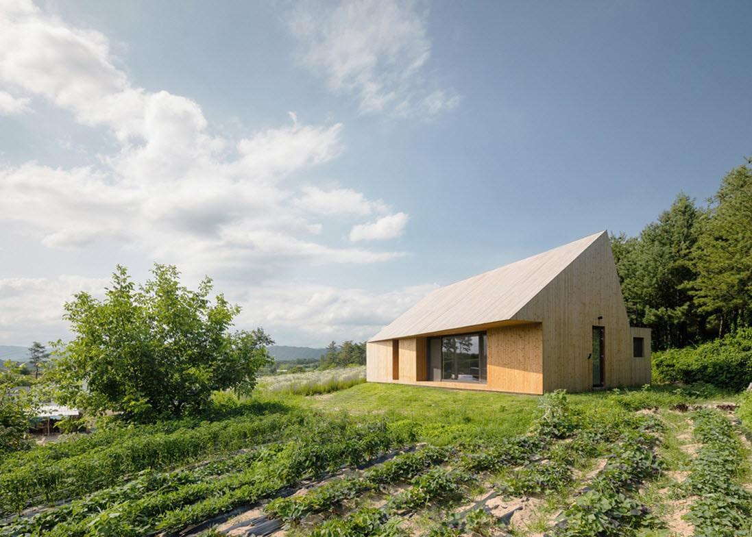 Dise o moderna casa de campo madera - Casas de campo modernas ...