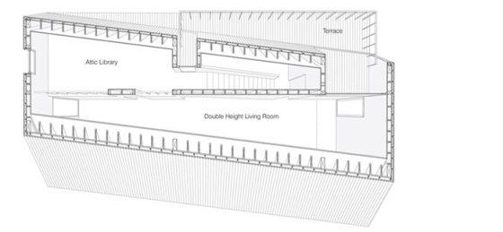 Plano 3D segundo piso de la casa