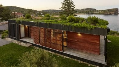 Photo of Diseño de casa de campo de un piso, combina madera y metal en su estructura moderna y ecológica
