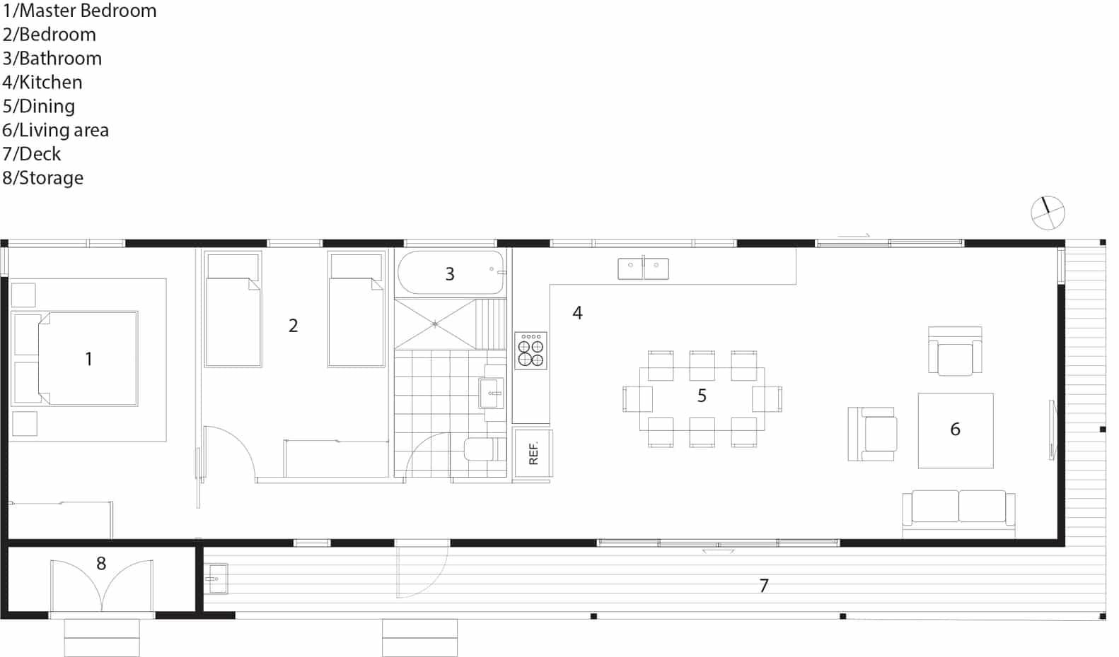 Dise o de casa de campo de un piso moderna construye hogar for Planos de pisos de lujo