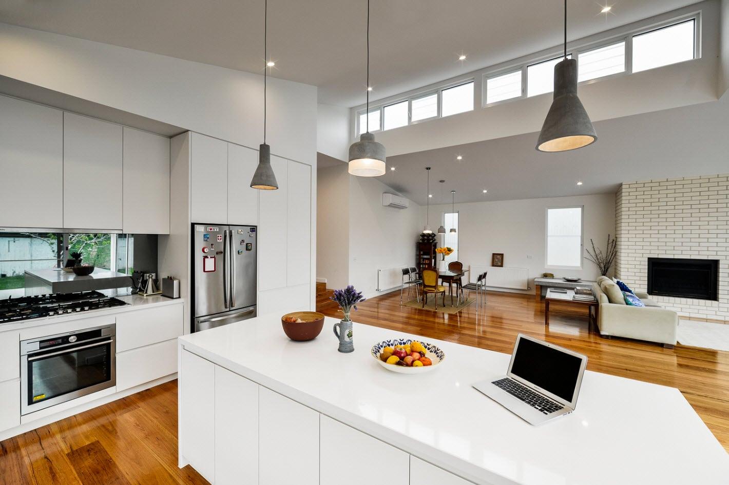 Dise o de casa moderna de un piso planos y fachadas for Donde se estudia diseno de interiores