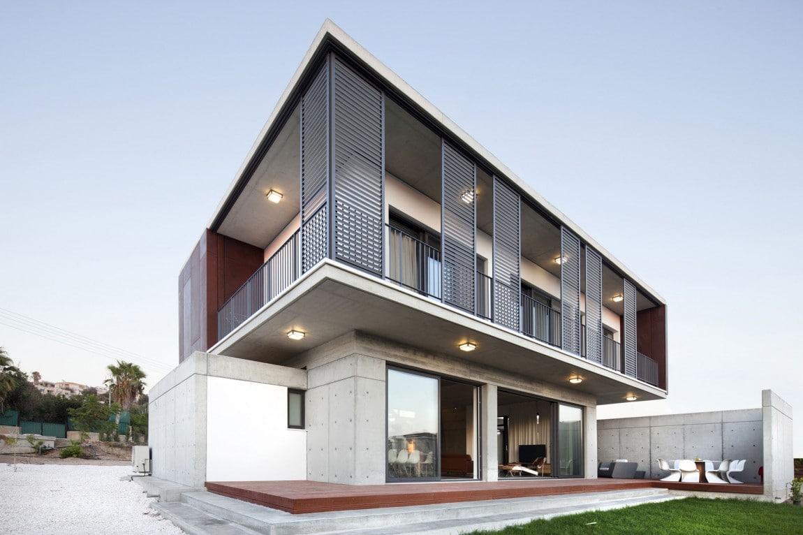 Casa moderna de dos pisos tres dormitorios Pisos para exteriores de casas modernas