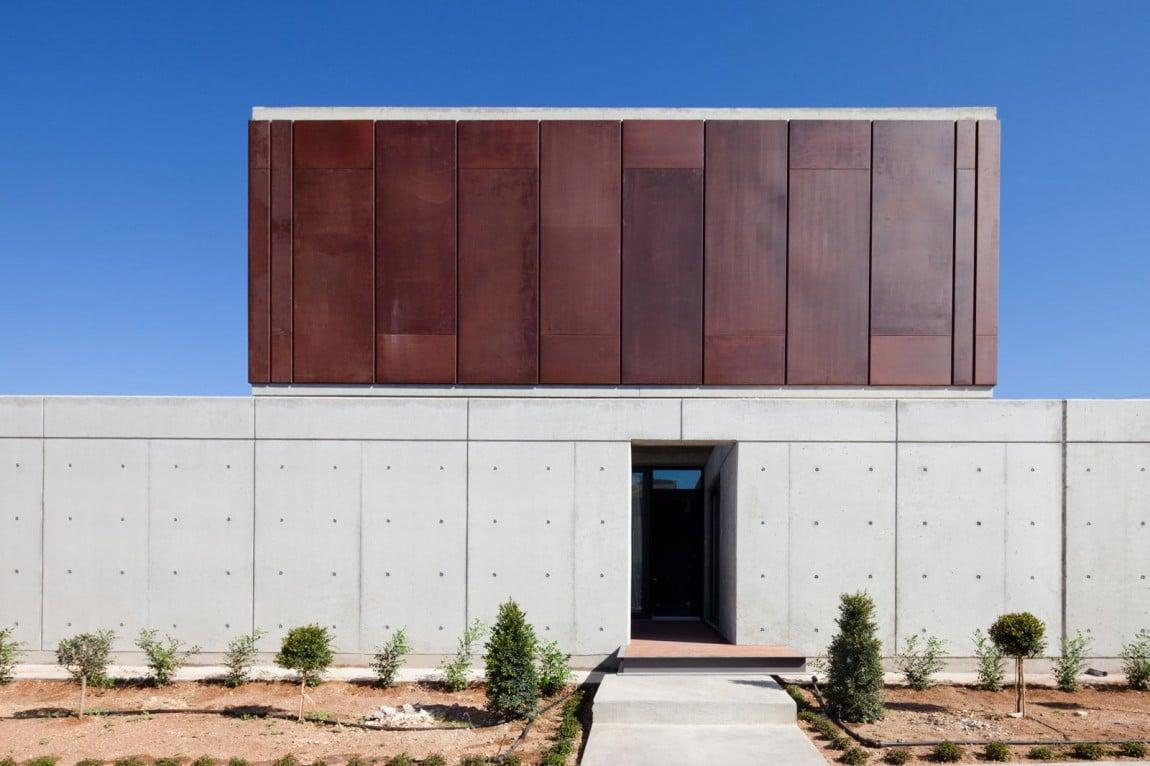 Casa moderna de dos pisos tres dormitorios construye hogar - Acero corten fachadas ...