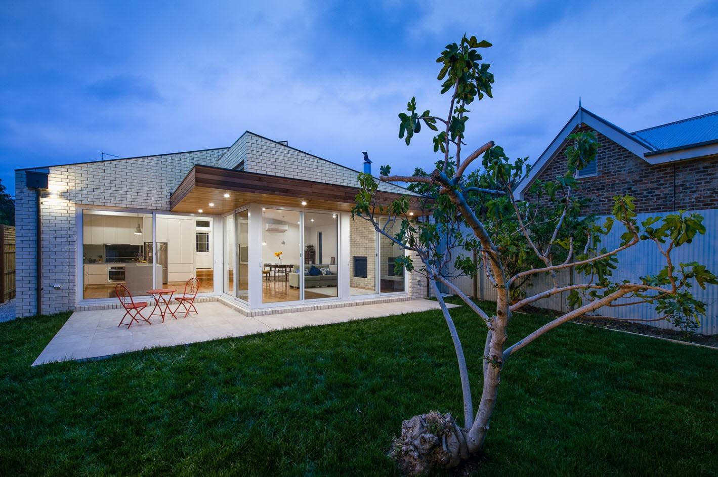 Dise o de casa moderna de un piso planos y fachadas for Casas modernas planos y fachadas