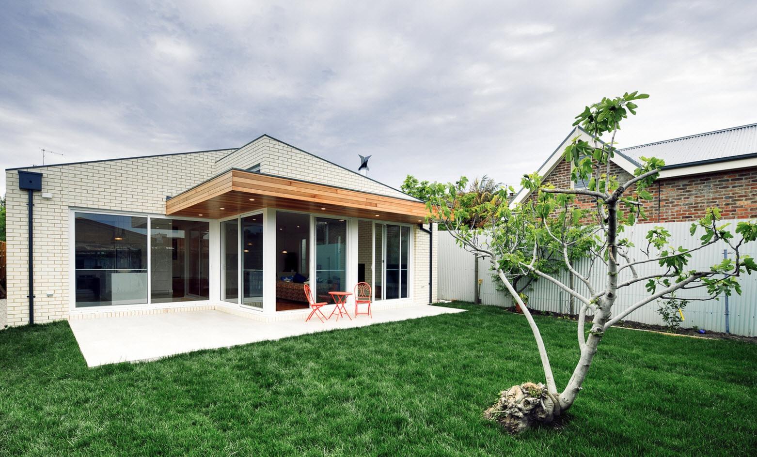 Dise o de casa moderna de un piso planos y fachadas for Fachadas de casas modernas 1 piso