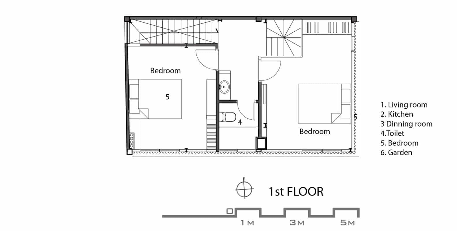 Casa econ mica moderna de 50 metros cuadrados construye for Escalera de 5 metros