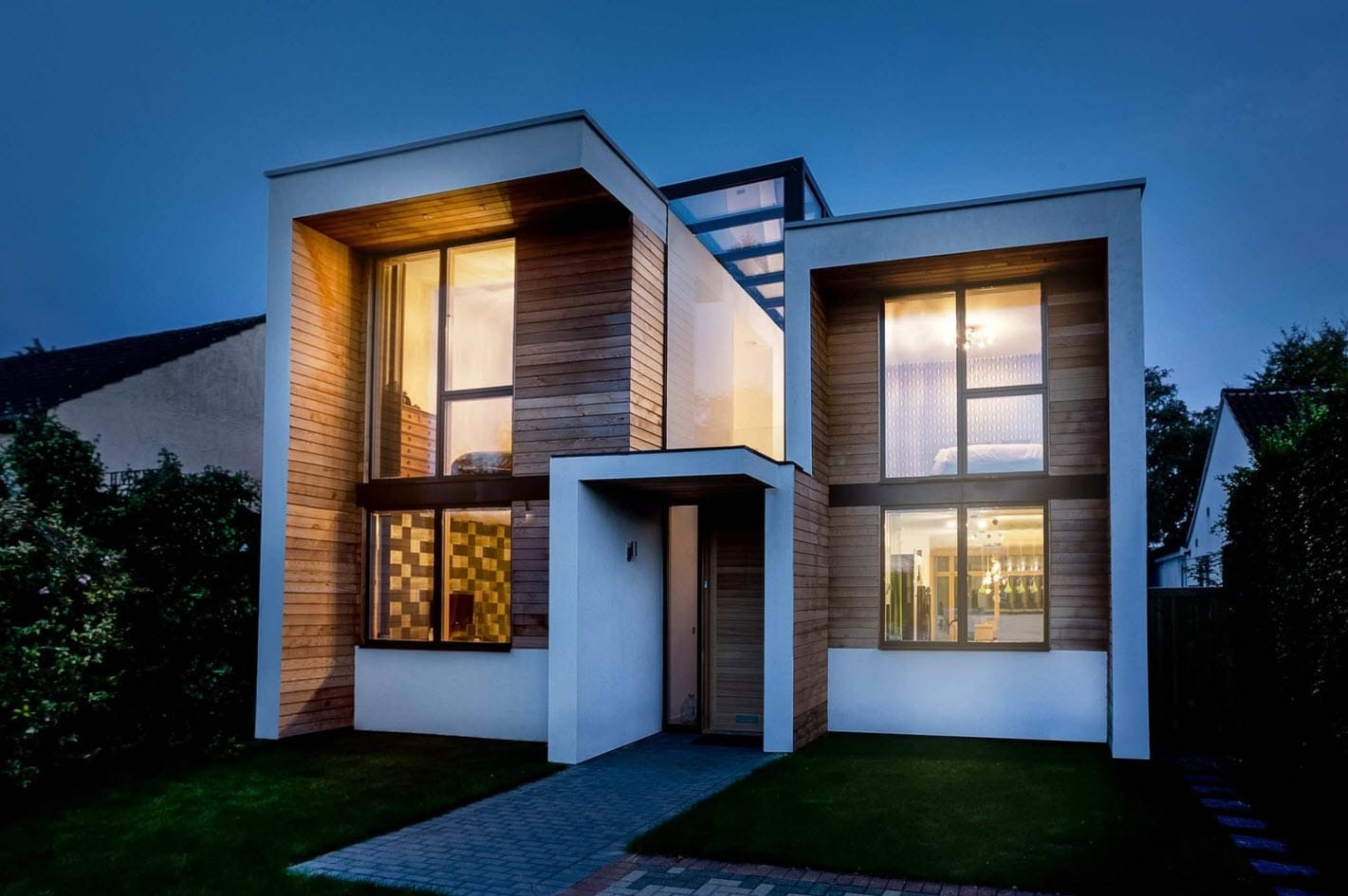 Dise o casa moderna de dos pisos construye hogar for Fachadas modernas para casas de dos pisos