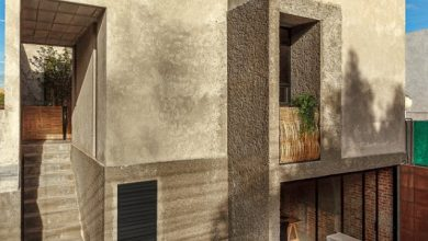 Photo of Planos de casa de dos pisos económica, moderna estructura expone los materiales de construcción