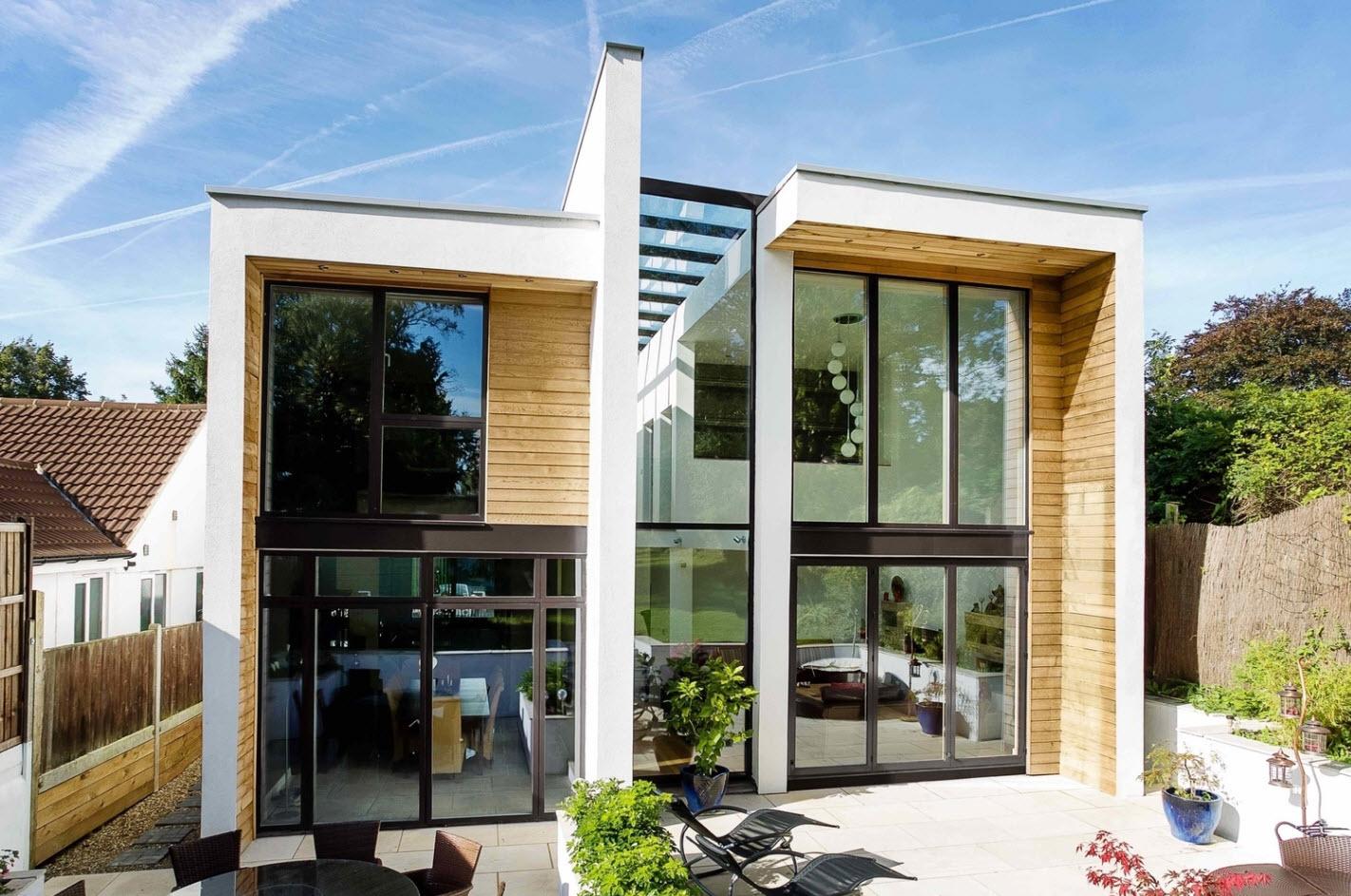 Dise o casa moderna de dos pisos for Casas rectangulares