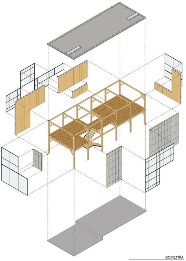 Dise o casa econ mica de dos pisos construye hogar - Casas con estructura de madera ...