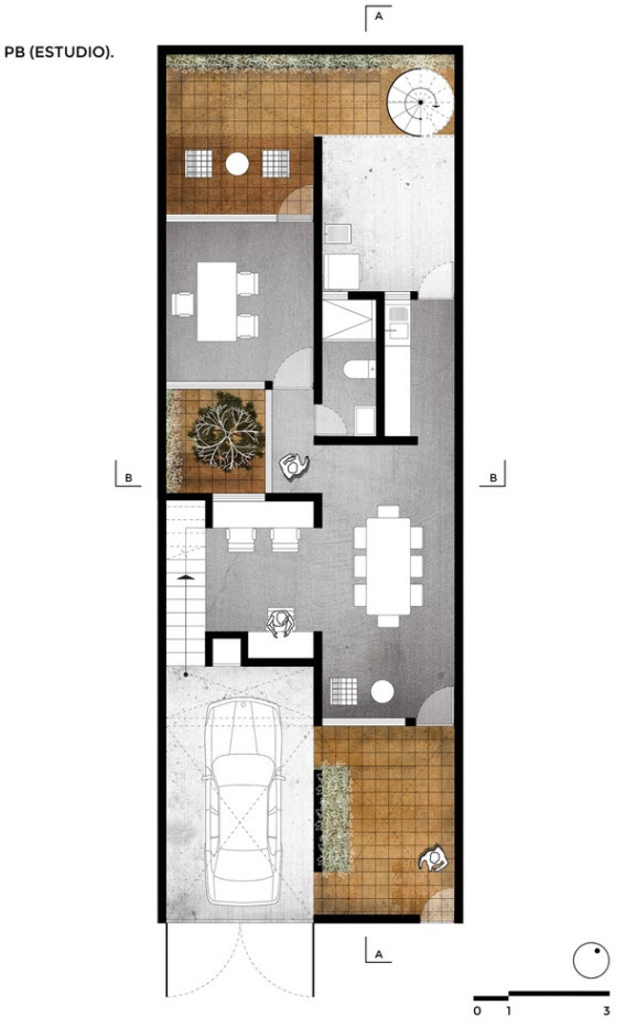 planos casa de dos pisos econ mica. Black Bedroom Furniture Sets. Home Design Ideas
