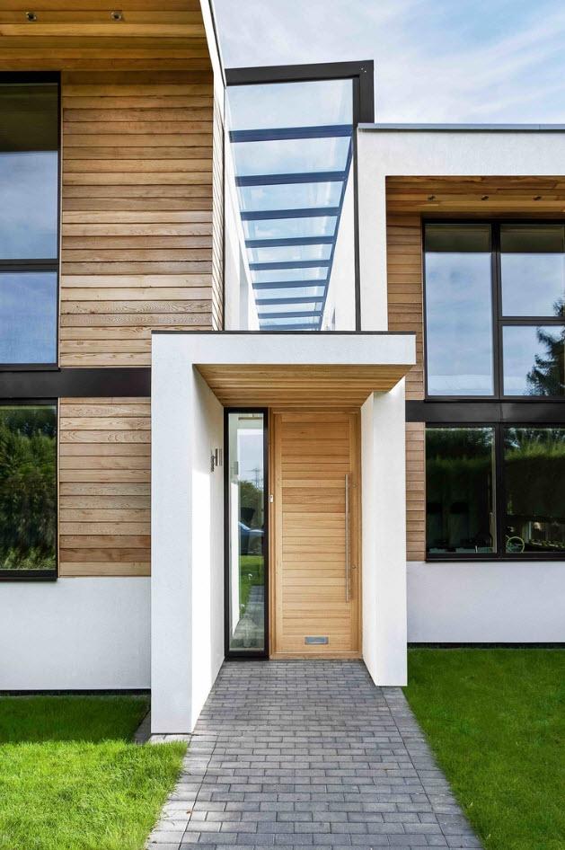 Dise o casa moderna de dos pisos - Casa con portico ...