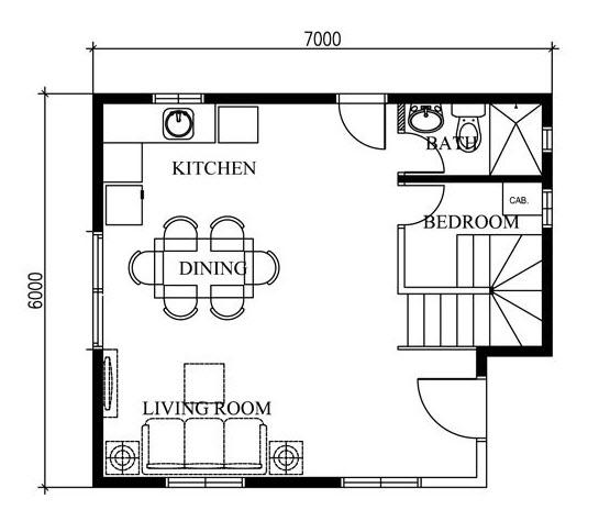 diseno de casas de 42 metros cuadrados