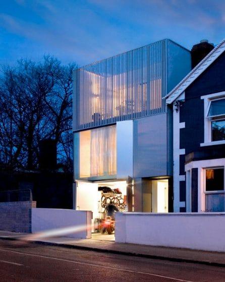 Fachada casa contemporánea