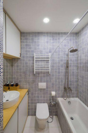 Diseño cuarto de baño departamento moderno