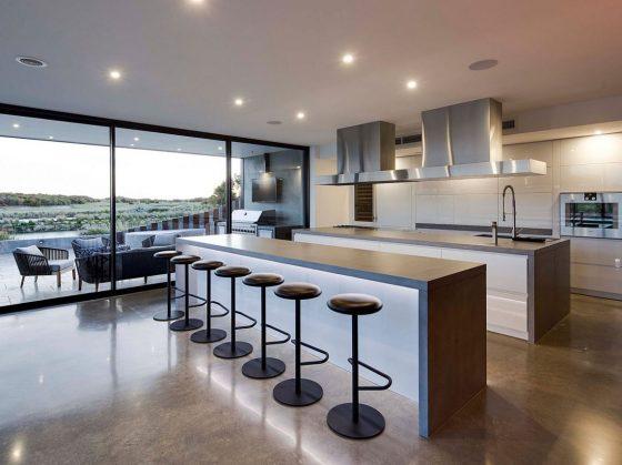 Diseño de cocina moderna con doble isla