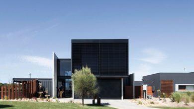 Photo of Diseño de casa contemporánea de dos pisos, estructura de bloques rectangulares y amplios interiores