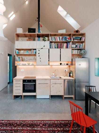 Mueble de madera para cocina pequeña